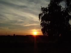 Západ slunce nad Kojicemi v r. 2005